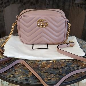 💯% Auth Brand New Gucci Marmont Mini - Dusty Pink